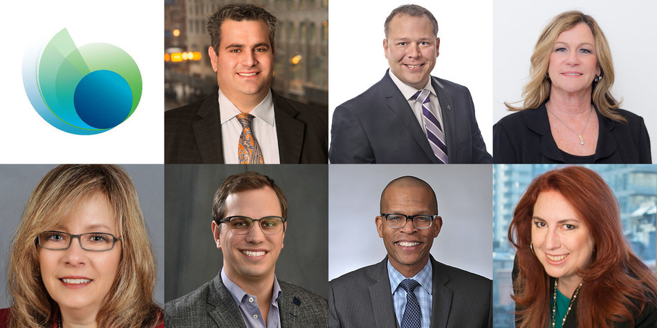 SomerCor, Chicago's leading SBA CDC, has appointed six new board members (pictured top left to right, then bottom left to right): Dean Avdalas, Byline Bank; Brian Burke, First Midwest Bank; Diane Gallion, Radius Bank; Margaret Griffin, Huntington Bank; Chris Rentner, Velocity Solutions; and William Towns, Benefit Chicago. SomerCor has also appointed a new Vice Chairman of the Board: Margy Sweeney, Akrete (bottom right).