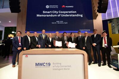 Cerimônia de assinatura do memorando de entendimento entre a Huawei e Gelsenkirchen para a plataforma cidade inteligente (PRNewsfoto/Huawei)