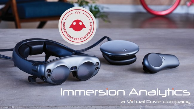 Immersion Analytics Accepted into Magic Leap Independent Creator Program