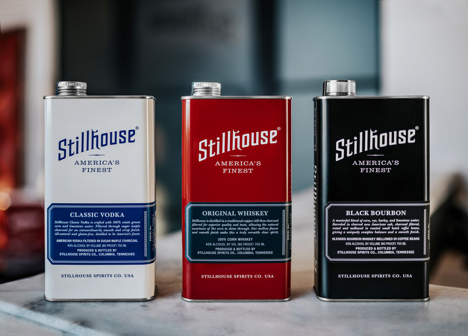 Renowned for their award-winning Stillhouse Whiskey and Stillhouse Black Bourbon, as well as their award-winning, recognizable stainless steel can, Stillhouse Spirits Co. is now breaking into the biggest spirits category with the debut of Stillhouse Classic Vodka. Photo Credit - Jessica Padover