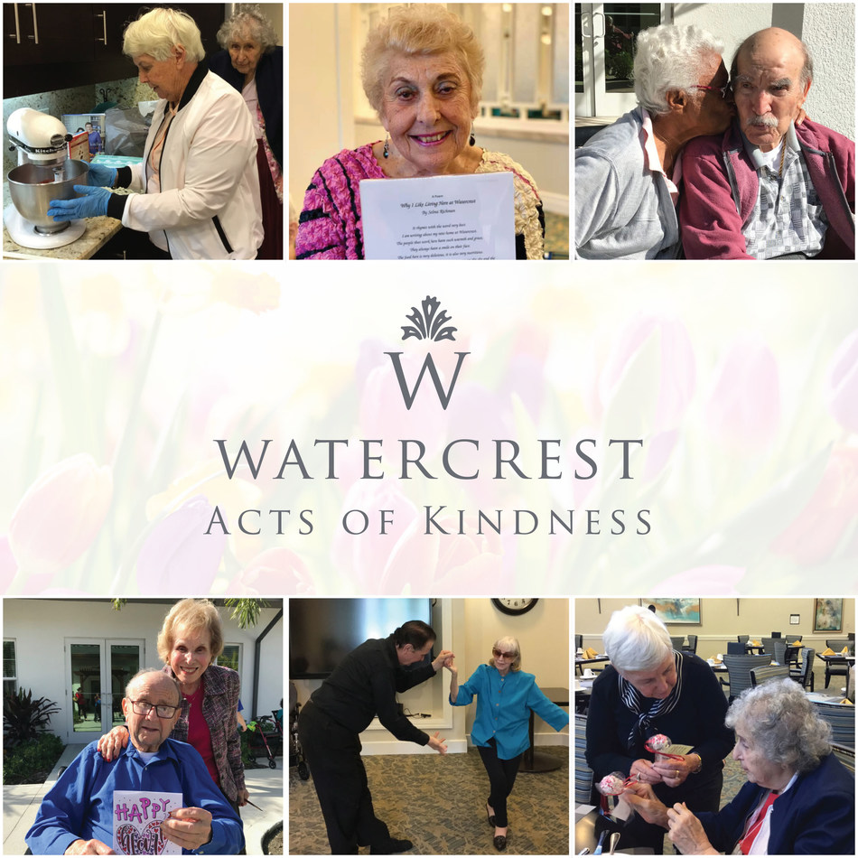 Watercrest Senior Living Group championed a successful month-long Acts of Kindness program as part of their Common Unity initiative.  Associates organized creative and meaningful ways for residents to engage in acts of kindness in their community and beyond.