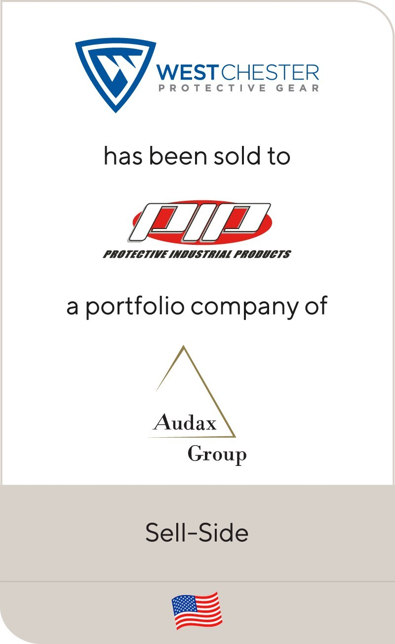 Lincoln is pleased to announce that West Chester Protective Gear has been sold to Protective Industrial Products, a portfolio company of Audax