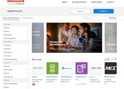 The Honeywell Marketplace provides companies with direct access to review and purchase enterprise software