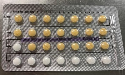 Blister with placebo tablet in active tablet row (CNW Group/Apotex Corp.)