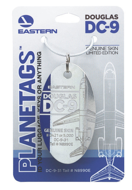 Eastern Air Lines DC-9 PlaneTag From Tail #N8990E