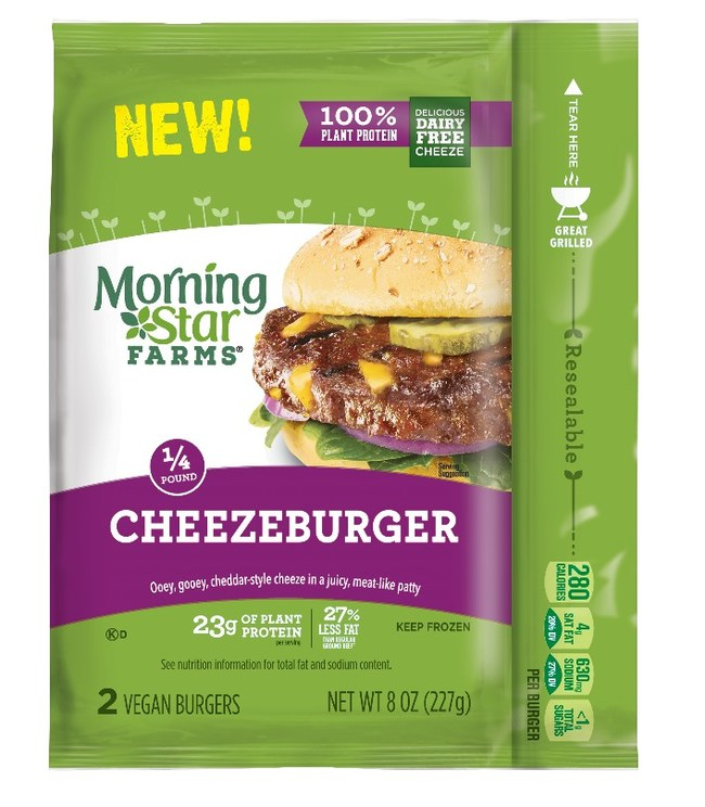 MorningStar Farms® announces its commitment to convert the entire portfolio to be 100 percent plant-based (vegan) by 2021, further increasing the accessibility of great-tasting plant-based offerings and reducing the use of over 300 million egg whites annually. The newest 100 percent plant-based innovation, MorningStar Farms® Cheezeburger, will launch at Expo West on March 7th and is a simple way for people to feel great about their everyday favorites.