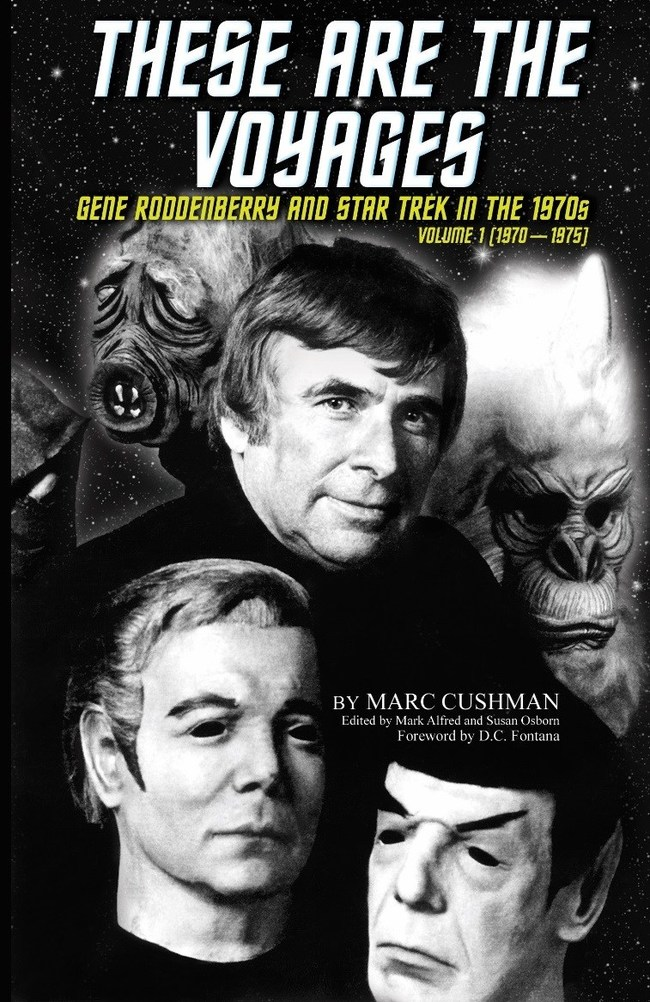 Cover of new book featuring Gene Roddenberry, circa 1975.