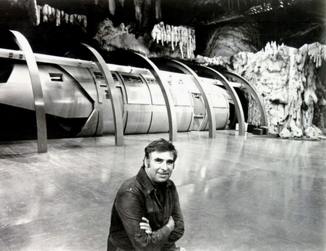 Gene Roddenberry on the set of Genesis IIm one of his 1970s TV pilots.