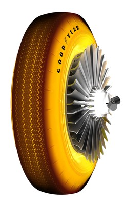 Golden Sahara Tire 3-4 view