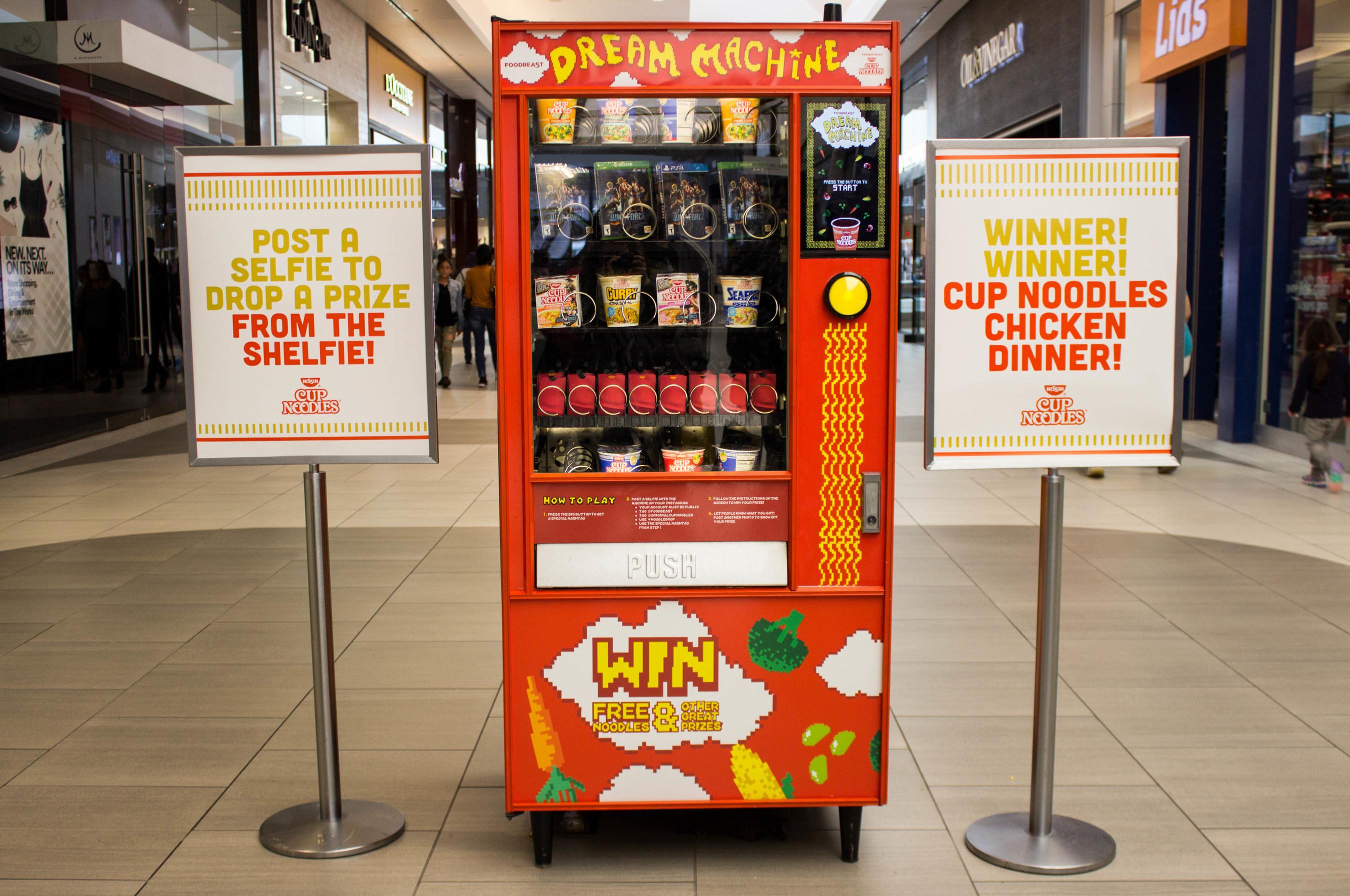 FREE NOODLES: New Nissin Cup Noodles® Vending Machines Use Instagram