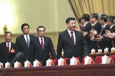 The second session of the 13th National Committee of the Chinese People's Political Consultative Conference opens at the Great Hall of the People in Beijing on Sunday. Xi Jinping, general secretary of the Communist Party of China Central Committee, president, and the chairman of the Central Military Commission, attended with other leaders. Photo by Zou Hong China Daily.