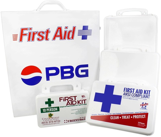 Custom Label First Aid Kits - Build a first aid kit with your logo imprint!