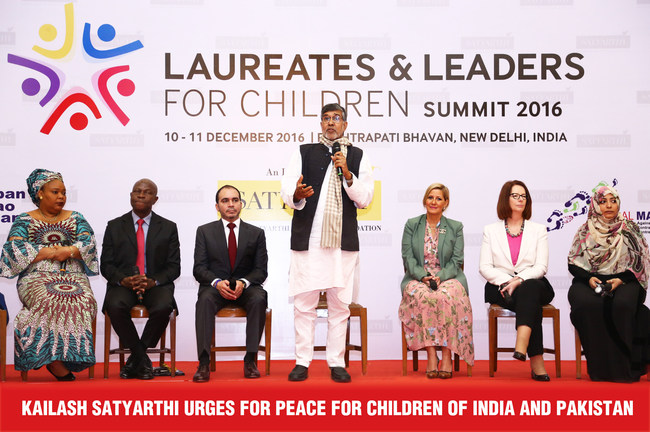 Kailash Satyarthi urges for Peace for Children of India and Pakistan