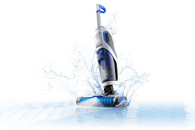 The new HOOVER® ONEPWR™ FloorMate JET™ is designed for vacuuming and washing hard floors in one easy step. It's part of the new HOOVER® ONEPWR™ Cordless System, an innovative family of eight cord-free, high-performance cleaning products that shares the same powerful lithium-ion battery.