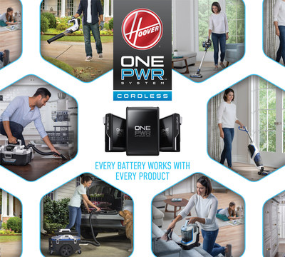 HOOVER® is transforming the way consumers clean with the new HOOVER® ONEPWR™ Cordless System. Every ONEPWR™ battery is compatible with every ONEPWR™ product for a faster and easier cleaning routine. Simply swap the battery from product to product to clean hard floors, carpets, patios and more.