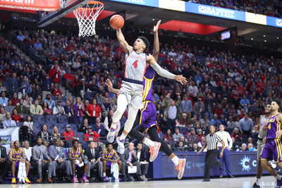 Ole Miss Basketball vs LSU on January 15th, 2019 at The Pavilion in Oxford, MS. Photo by Josh McCoy/Ole Miss Athletics; Instagram and Twitter: @OleMissPix; Buy Photos at RebelWallArt.com