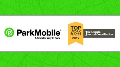 ParkMobile has been named one of the Top Workplaces by the Atlanta Journal Constitution.