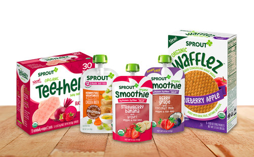 Sprout Foods, the Fastest Growing Organic Baby Food Brand, Launches 12 New Products at Expo West
