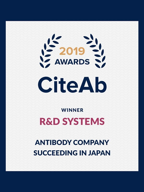 R&D Systems wins Antibody company succeeding in Japan award