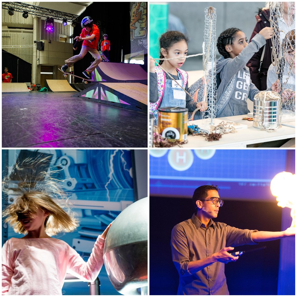 This March Break at the Ontario Science Centre, watch skateboarders rely on physics to carve, kickflip and ollie. Explore connections between art, science and technology. Wonder at the stars or the powers of energy—from static to solar. And celebrate 50 years of scientific discovery. (CNW Group/Ontario Science Centre)