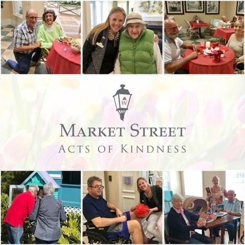 At Market Street Memory Care Residences across Florida, seniors enjoyed participating in an Acts of Kindness program, part of the Watercrest Senior Living Group Common Unity Initiative for the month of February.