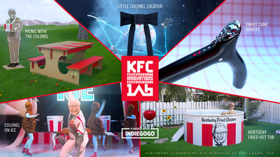 KFC launched KFC Innovations Lab via Indiegogo crowdfunding campaign to turn their craziest marketing ideas into a reality.