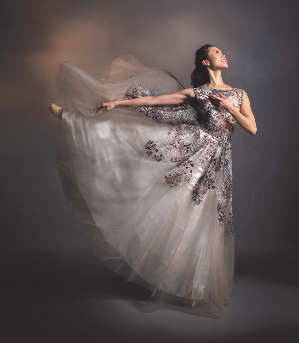 Alberta Ballet Dancer Mariko Kondo who is celebrating her 13th season with the Company next year, is featured on the cover of the 2019/20 Season Brochure. Photo by Paul McGrath (CNW Group/Alberta Ballet)