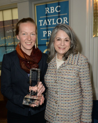 2019 RBC Taylor Prize winner Kate Harris and Noreen Taylor. Photo Tom Sandler (CNW Group/RBC Taylor Prize)