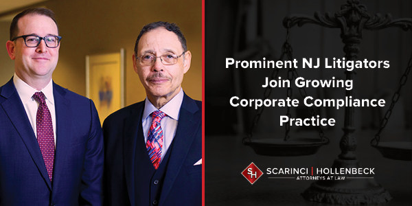 New Jersey litigators Raymond Brown and Gregg Hilzer have joined Scarinci Hollenbeck's Litigation Group. Together with Partners Robert Levy, Paul Lieberman and Roshan Shah, they will help lead the firm's growing Criminal Defense and Corporate Compliance practice groups.