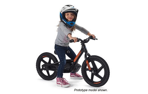 Girl on eBike - protoype shown.