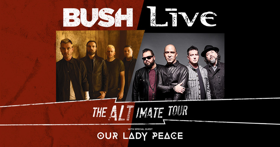 +LIVE+ And BUSH Celebrate 25th Anniversary Of Iconic Albums Throwing Copper And Sixteen Stone With Co-Headline Tour Hitting Arenas And Outdoor Amphitheaters