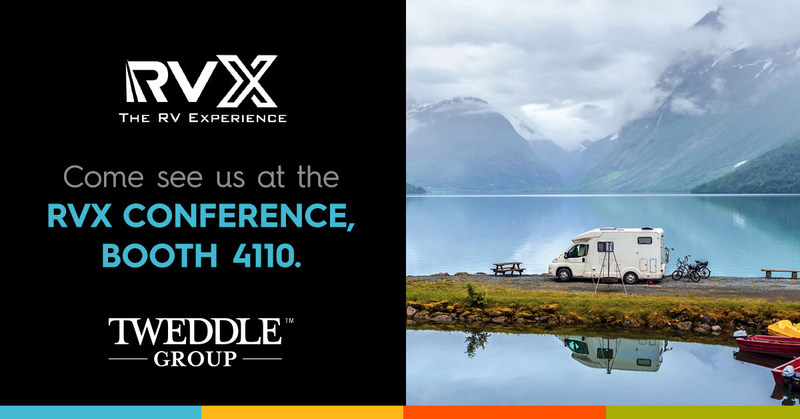 Tweddle Group will join other suppliers at the first-ever RVX trade show March 12-14 in Salt Lake City, UT.