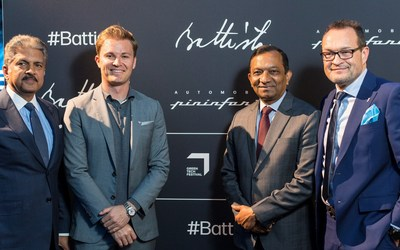 Anand Mahindra, Nico Rosberg, Pawan Goenka, Michael Perschke
