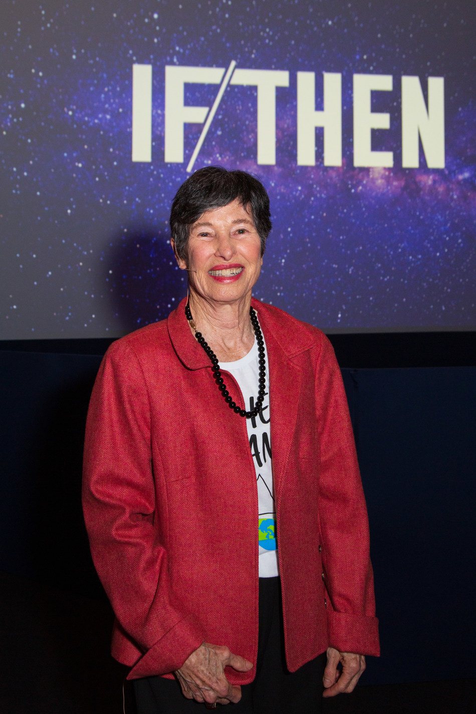 Lyda Hill at the launch of IF/THEN.