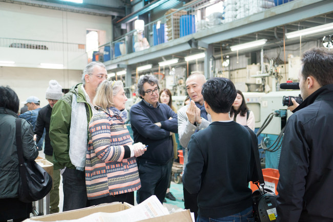 """The international Italian designers of """"The Meet Lab"""" visits SUNMEI's manufacturing facility (Photo Credit: SUNMEI BUTTON)"""