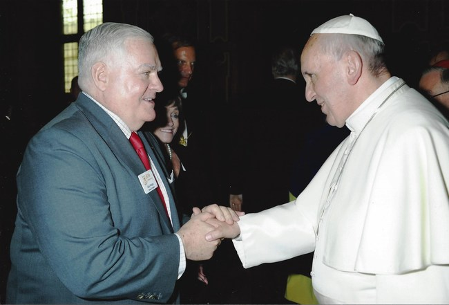 Pope Francis and Gary Krupp Pave the Way Foundation PTWF
