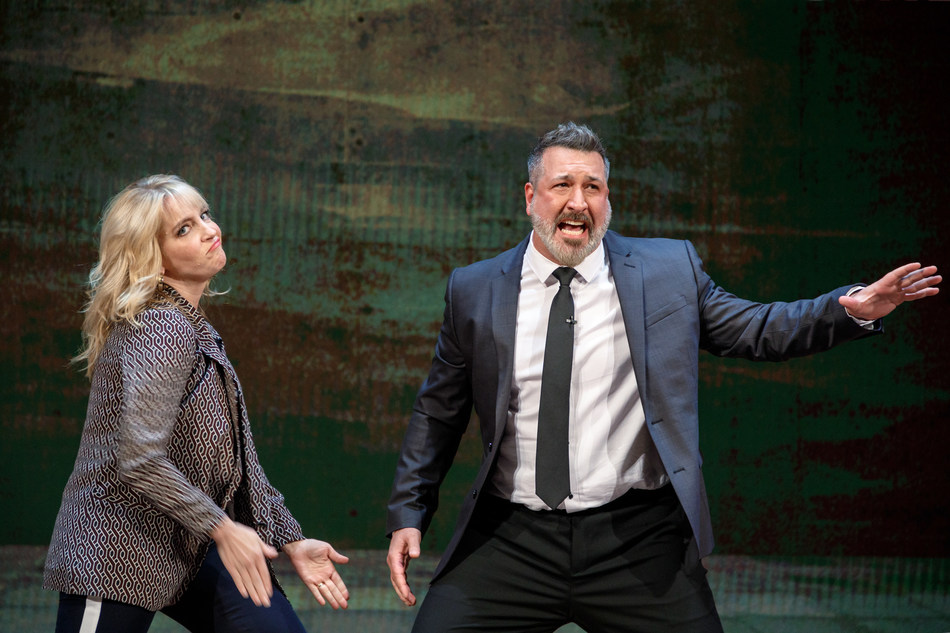 "Joey Fatone guest stars in BYUtv's new series ""Show Offs."""