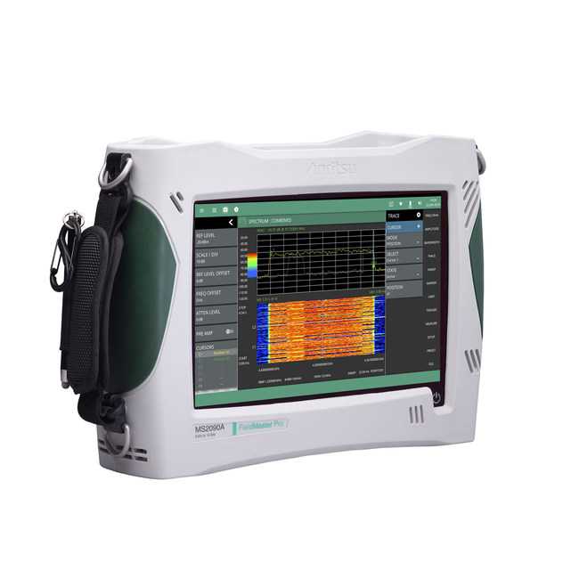 Anritsu Company and TRX Systems introduce the industry's first field solution that provides 3D indoor and outdoor coverage mapping for 5G New Radio (5G NR) that integrates the Field Master Pro™ MS2090A RF handheld spectrum analyzer (pictured) with the MA8100A TRX NEON® Signal Mapper.