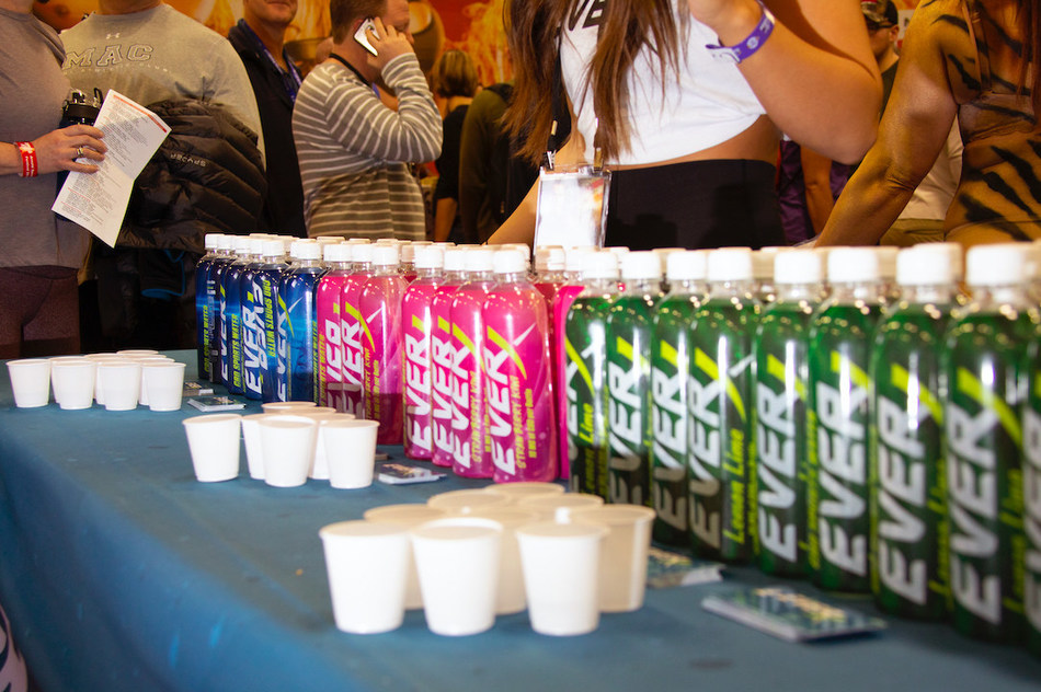 EVERx CBD Sports Water debuted its all new formula and packaging at the world-renowned Arnold Sports Festival this week in Columbus, Ohio. (PRNewsfoto/Puration, Inc.)