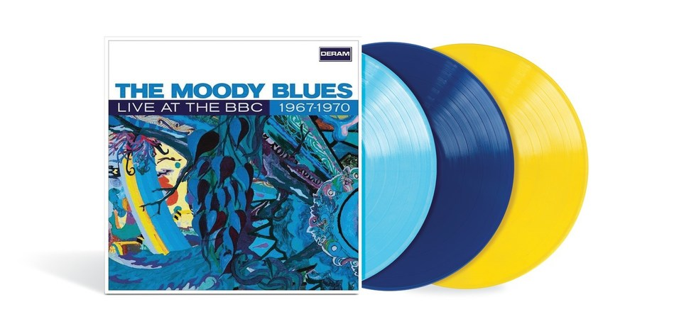 The Moody Blues' 'Live At The BBC: 1967–1970' will make its global vinyl debut with a limited, individually numbered 3LP color vinyl edition to be released April 26 by Polydor/UMe. Across its three 180-gram vinyl LPs, the deluxe special edition features 41 live performances from several BBC radio and television appearances the band made between 1967 and 1970.
