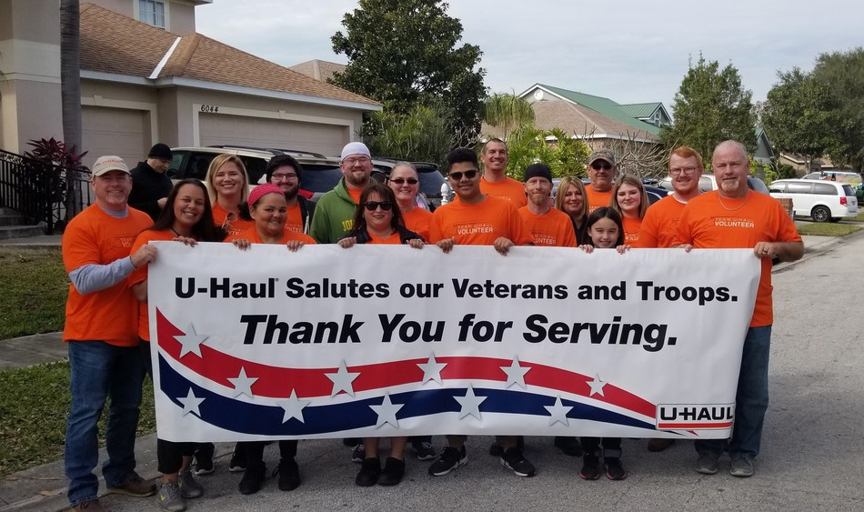 "U-Haul is a proud sponsor of the Middleton family on the newest season of ""Military Makeover with Montel"" on the Lifetime network."