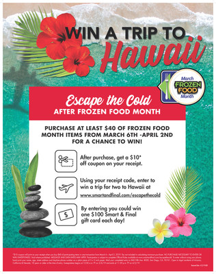 "Celebrate Frozen Food Month with ""Escape the Cold"" Hawaiian Vacation Contest and In-Store Promotions"