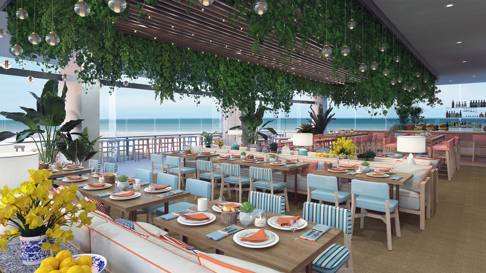 A view of the Hyde Paradiso dining patio coming to Gold Coast, Australia for March 2019