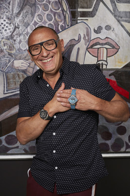 Marc Ferrero wearing the watch (PRNewsfoto/Hublot SA)