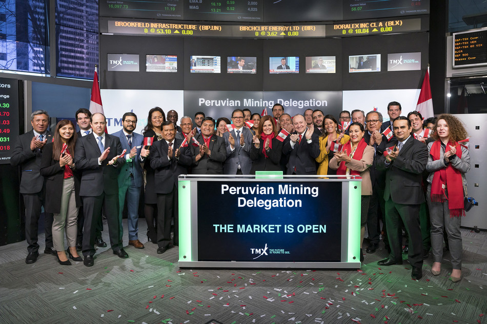 Peruvian Mining Delegation Opens the Market (CNW Group/TMX Group Limited)