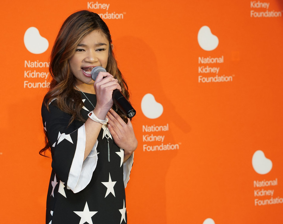 National Kidney Foundation Kid Ambassador Angelica Hale performs at the Kidney Patient Summit Congressional Reception, held at the Capitol View at 400, The Hall of States, March 5, 2019 in Washington, DC. The annual Kidney Patient Summit, led by the National Kidney Foundation, brings together kidney advocates from across the nation to meet with lawmakers on Capitol Hill.