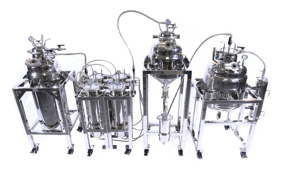 Precision Extraction Solution's X40 MSE - Multi-Solvent Extractor for Cannabis and Hemp Extraction.
