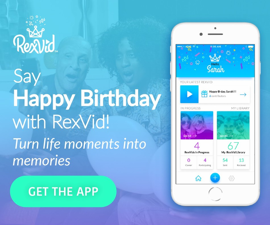 The RexVid App allows customers to string together and send video messages