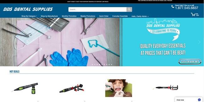 DDS Dental Supplies website