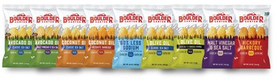 """Drawing inspiration from the Flatiron Mountains, Boulder Canyon's new packaging celebrates the authentic """"Boulder"""" flavor difference borrowed from the vibrancy of the outdoors."""